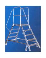 Alu-Podestleiter 2x6 Stufen, beidseitig