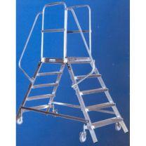 Alu-Podestleiter 2x5 Stufen, beidseitig