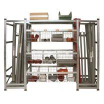 Regal für Abflussprogramm 2000x600x2800 mm
